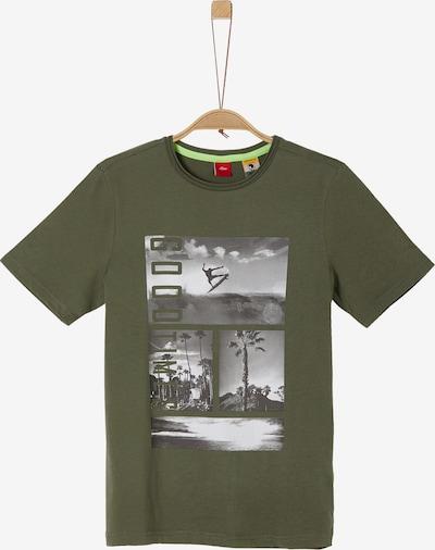 s.Oliver T-Shirt in grau / khaki / weiß, Produktansicht