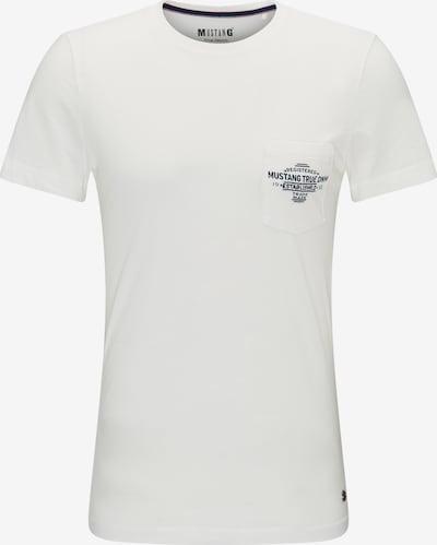 MUSTANG T-Shirt in dunkelblau / weiß, Produktansicht