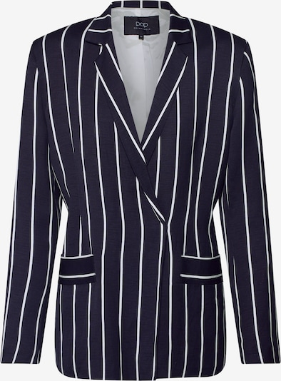 Pop Copenhagen Blazer 'Striped Linen Blazer' in navy, Produktansicht