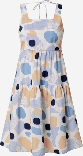 bézs / kék / fehér PIECES Nyári ruhák 'Mimi': Elölnézet