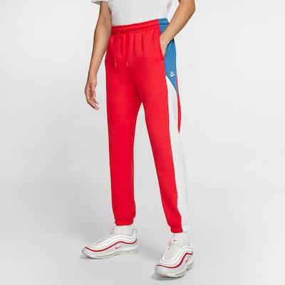 Nike Sportswear Sweathose in rot / weiß, Modelansicht