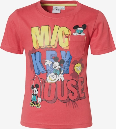 DISNEY T-Shirt 'Mickey Mouse' in blau / limone / rot, Produktansicht