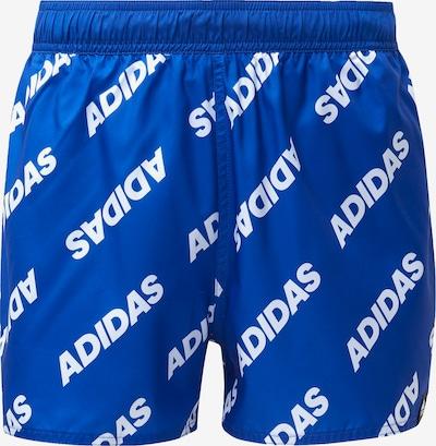 ADIDAS PERFORMANCE Sportbadehose in blau / weiß: Frontalansicht