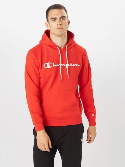 Champion Authentic Athletic Apparel Mikina - červená / biela: Pohľad spredu