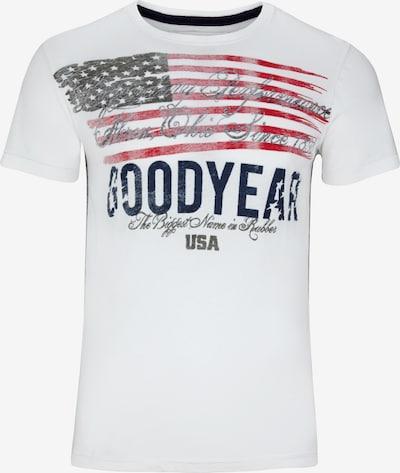 GOODYEAR T-Shirt BLUFFTON in Vintage-Optik in weiß, Produktansicht