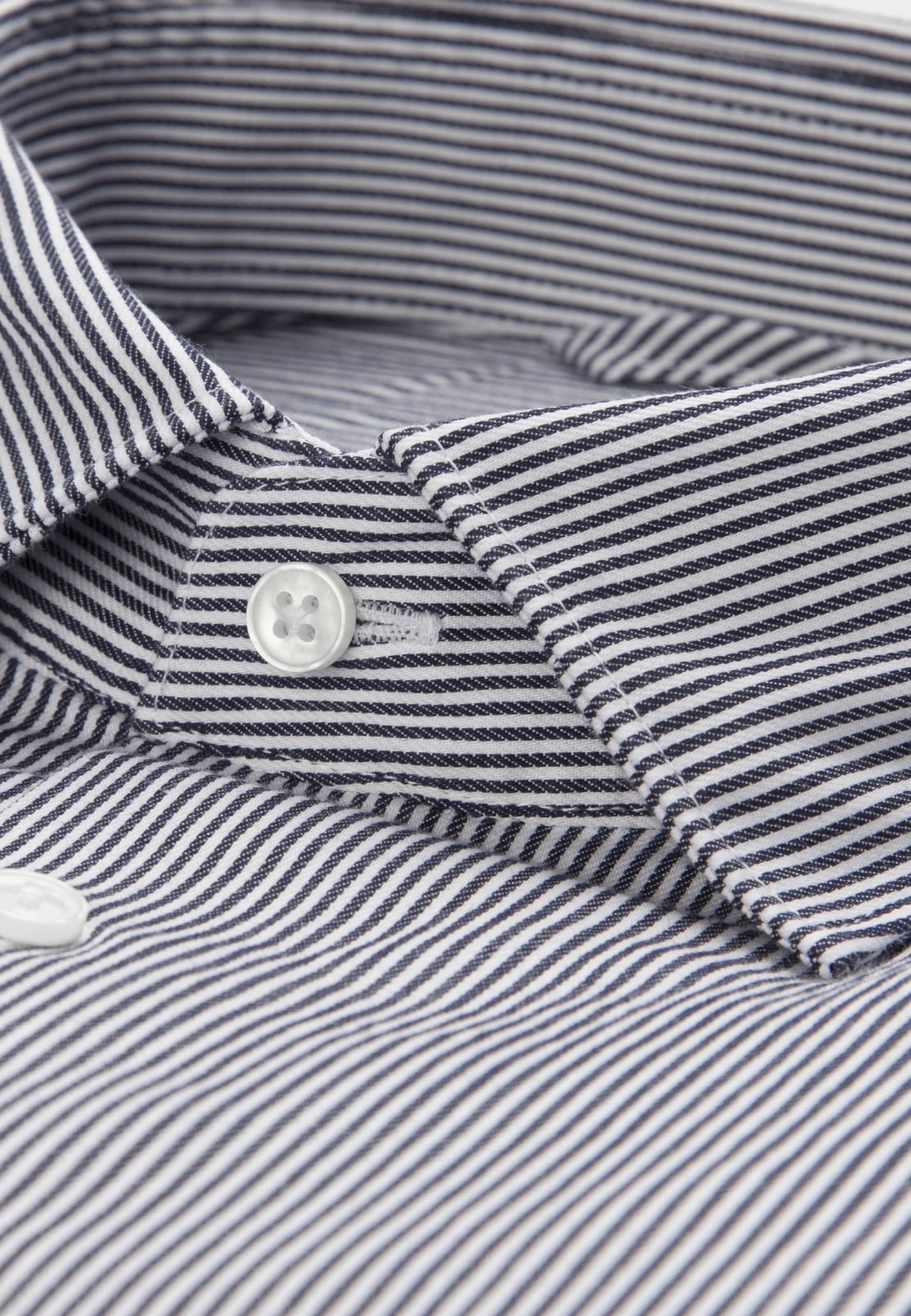 'x slim' Seidensticker Hemd In DunkelgrauWeiß 0wN8nymOv