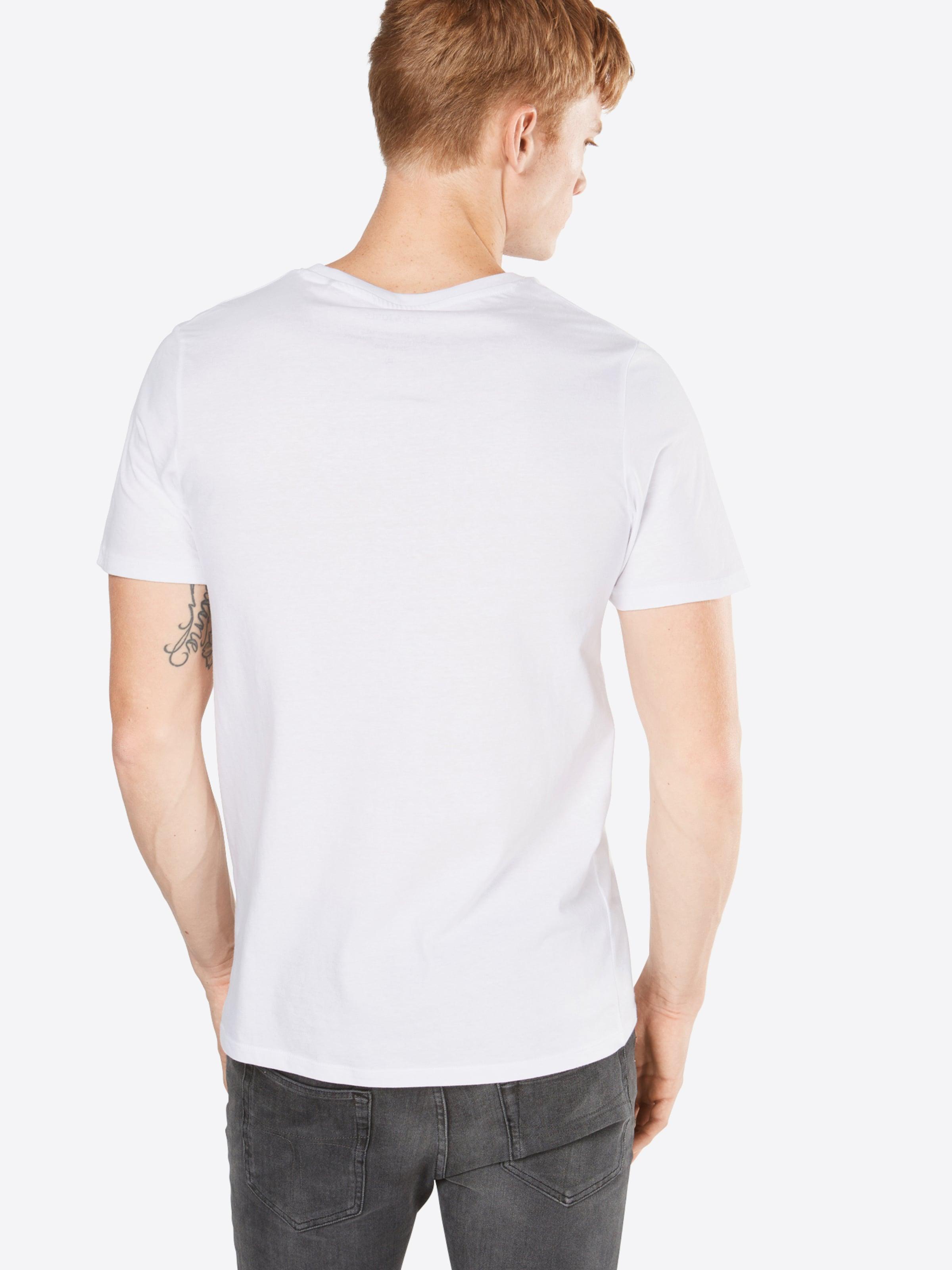 Neck' Ss Jones T Logo Tee RougeNoir shirt Jackamp; Crew 'jjecorp En Blanc 0wynOmvN8P