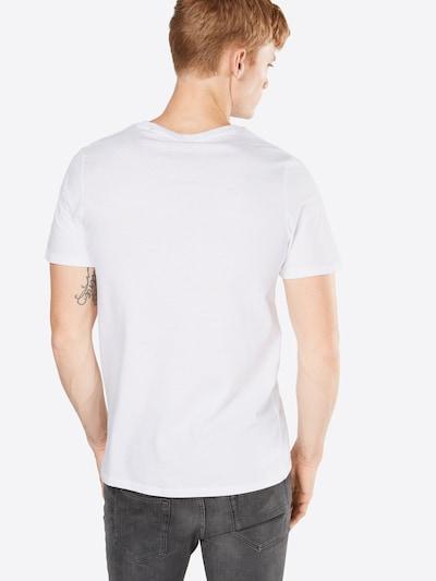 JACK & JONES T-Shirt 'JJECORP LOGO TEE SS CREW NECK' in rot / schwarz / weiß: Rückansicht