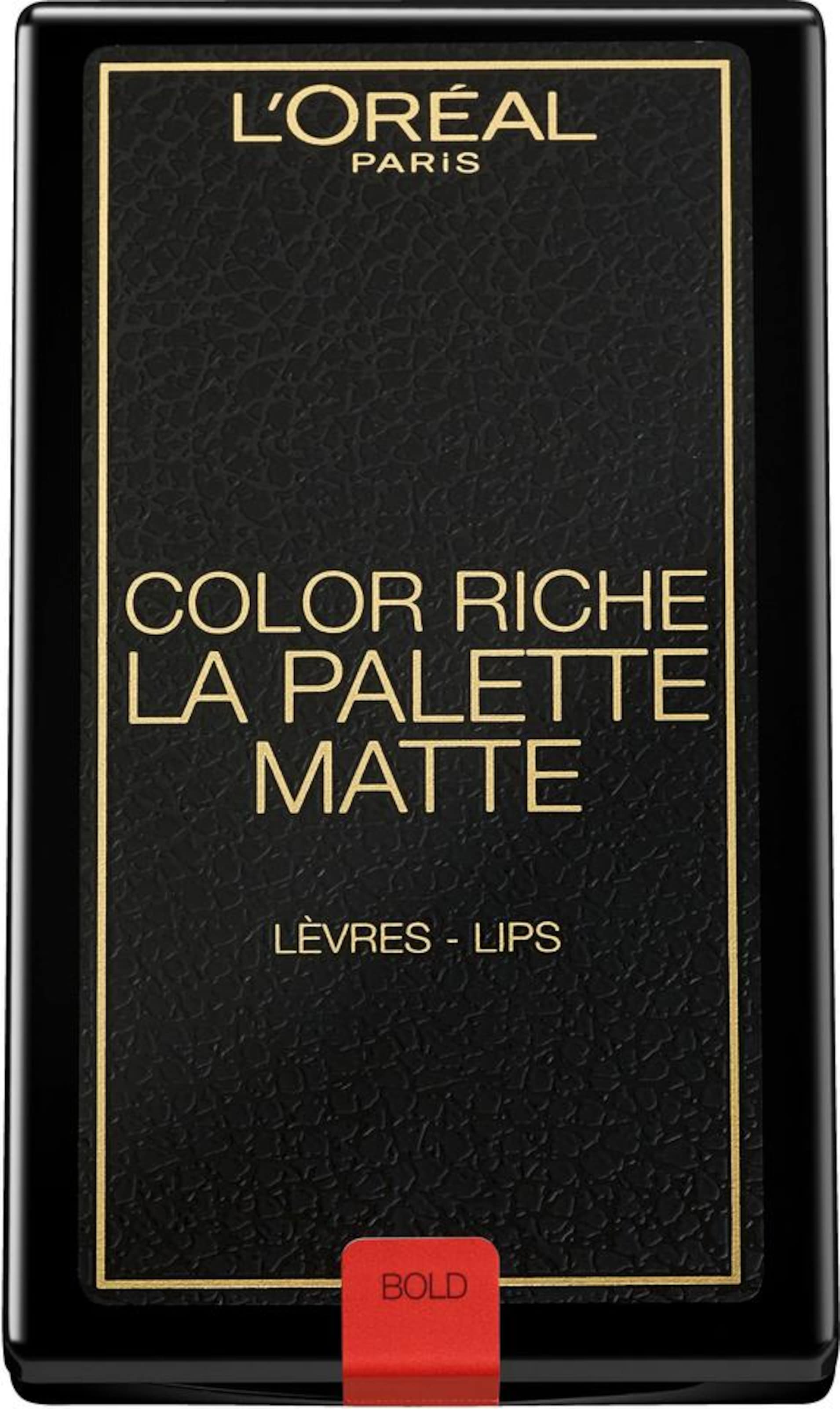 L'Oréal Paris 'Color Riche La Palette Lip Matte Addiction', Lippenstift