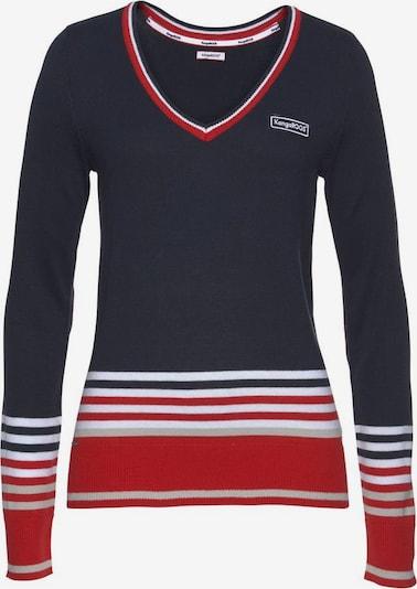 KangaROOS Pullover in marine / greige / rot / weiß, Produktansicht