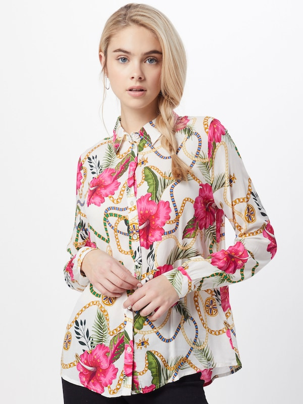 Key Largo Bluse 'WB HAWAII' in pink / offwhite, Modelansicht