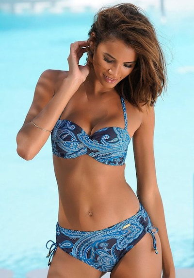 LASCANA Bikini top 'Boho' in Navy, View model