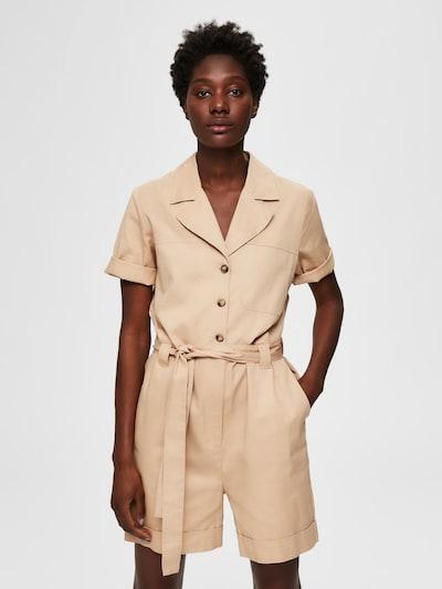 SELECTED FEMME Jumpsuit in de kleur Lichtbruin, Modelweergave