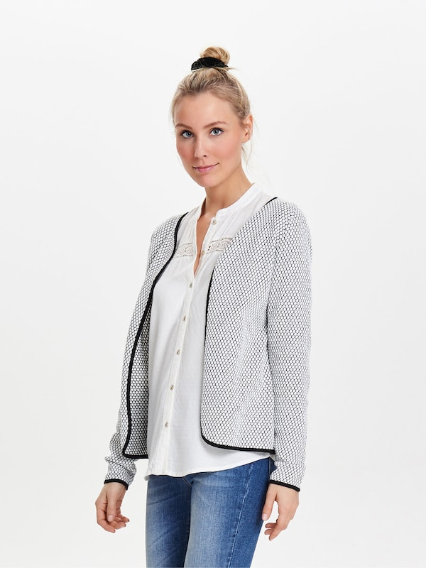 ONLY Kurzer Strickcardigan in grau, Modelansicht