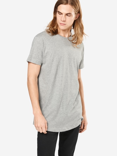Urban Classics Shirt 'Shaped Long Tee' in graumeliert: Frontalansicht