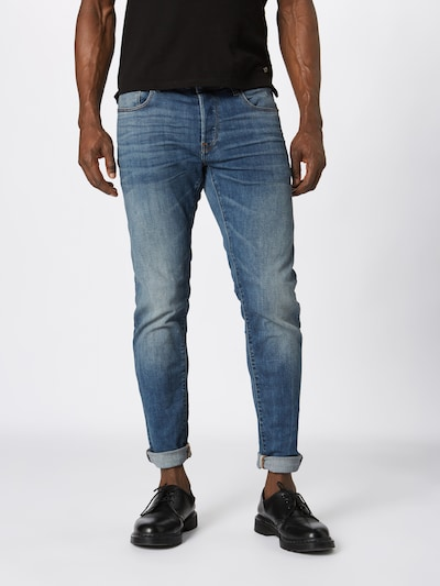 G-Star RAW Jeans '3301 Slim' in blue denim, Modelansicht