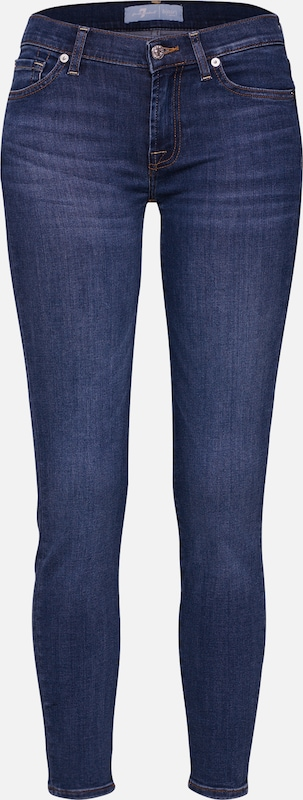 7 for all mankind Jeans 'The Skinny Crop' in blue denim, Produktansicht