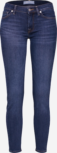 7 for all mankind Jeans 'The Skinny Crop' in de kleur Blauw denim, Productweergave