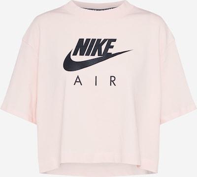 Nike Sportswear T-Shirt in rosa / schwarz: Frontalansicht