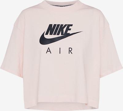 NIKE Functioneel shirt in de kleur Rosé / Zwart: Vooraanzicht