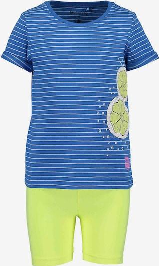 BLUE SEVEN Set in blau / limone, Produktansicht