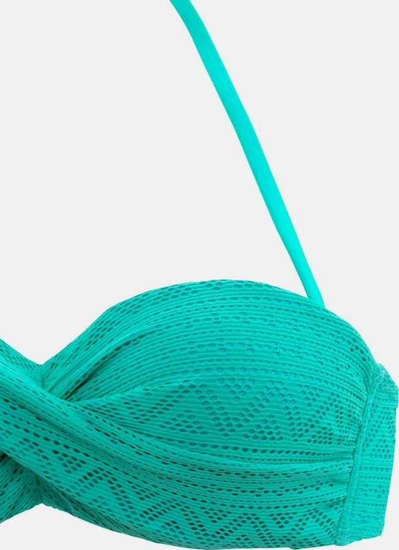 BUFFALO Bügel-Bandeau-Bikini in Häkeloptik