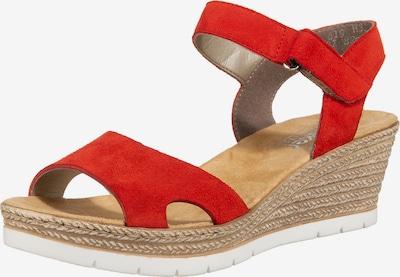RIEKER Sandalen met riem in de kleur Rood, Productweergave