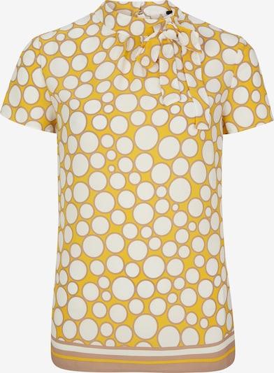 s.Oliver BLACK LABEL Chemisier en jaune / blanc, Vue avec produit