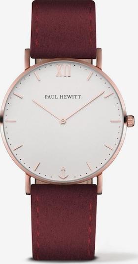 Paul Hewitt Uhr in rosegold / burgunder / weiß, Produktansicht