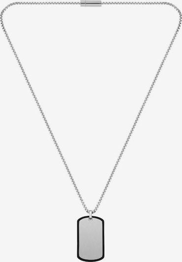 BOSS Casual Kette 'ID, 1580050' in schwarz / silber, Produktansicht