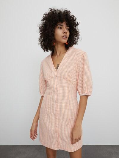 EDITED Kleid  'Madlena' in hellorange / weiß, Modelansicht