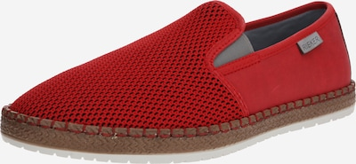 RIEKER Slipper 'Loafer' in rot / schwarz, Produktansicht