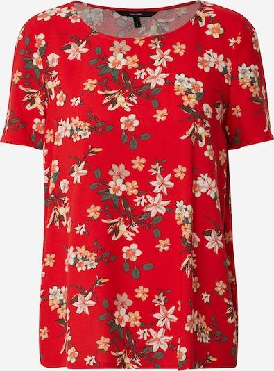 VERO MODA Tričko 'SIMPLY' - červená: Pohled zepředu