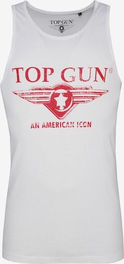 TOP GUN Top 'Pray' in de kleur Rood / Wit, Productweergave