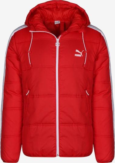 PUMA Winterjacke ' Classics T7 Padded ' in rot / weiß, Produktansicht