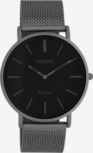OOZOO Uhr in dunkelgrau, Produktansicht