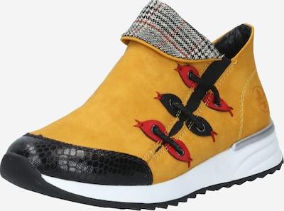RIEKER Boots in senf / blutrot / schwarz / weiß, Produktansicht