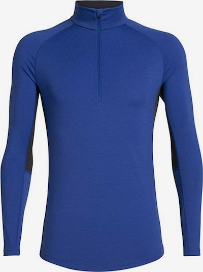 Icebreaker Shirt '200 Zone LS Half Zip' in blau / schwarz: Frontalansicht