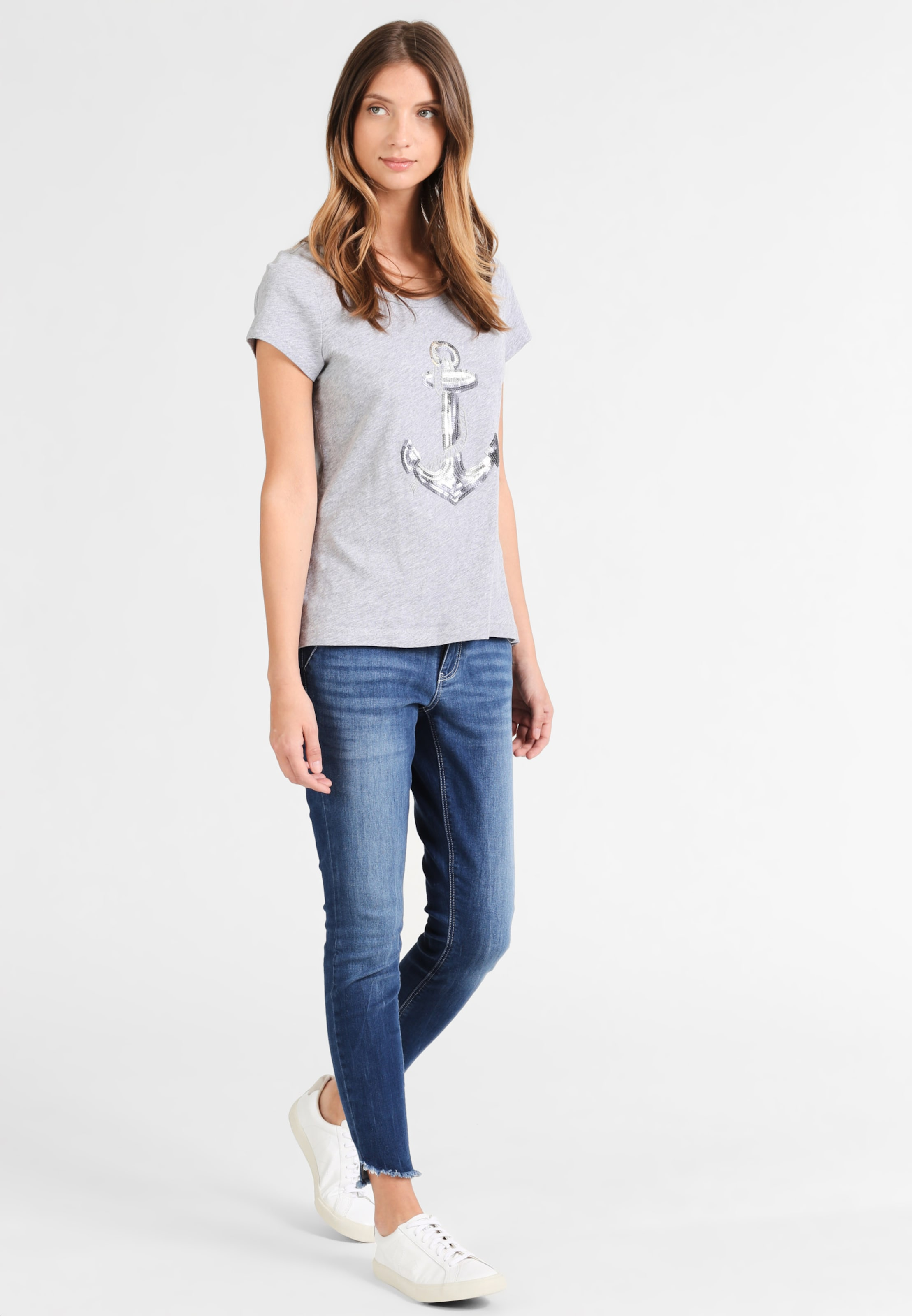 shirt Grau T Damen Dreimaster In L4R35jqA