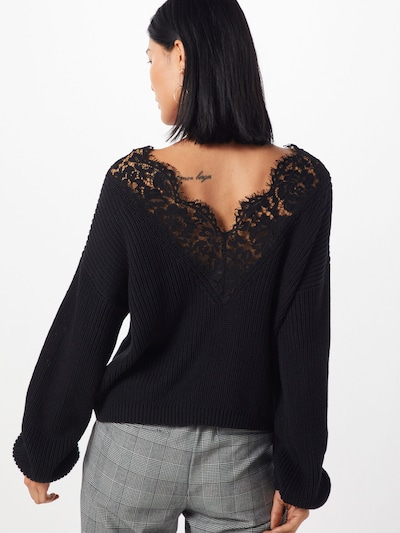 ONLY Sweater 'Xenia' in Black: Rear view