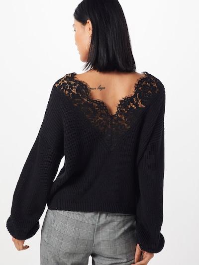 Pulover 'Xenia' ONLY pe negru: Privire spate