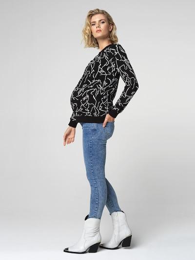 Supermom Jeans in blau: Frontalansicht
