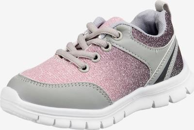 D.T. NEW YORK Sneaker in grau / pflaume / pink, Produktansicht