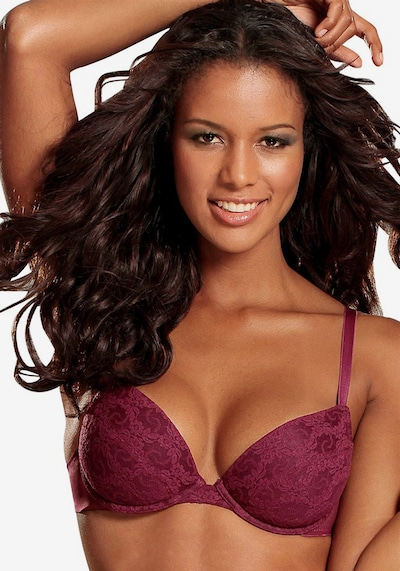 PETITE FLEUR Bra in Berry / Pink / White: Frontal view