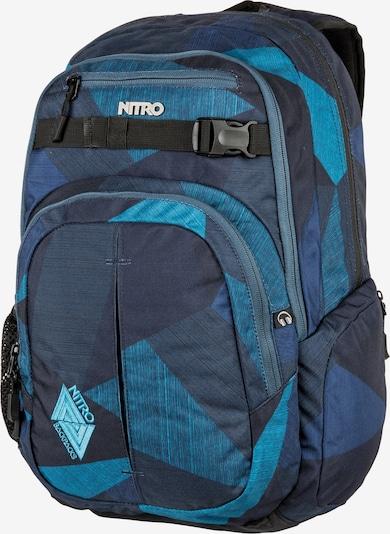 NITRO Rucksack 'Chase' in navy / nachtblau / aqua / blaumeliert, Produktansicht