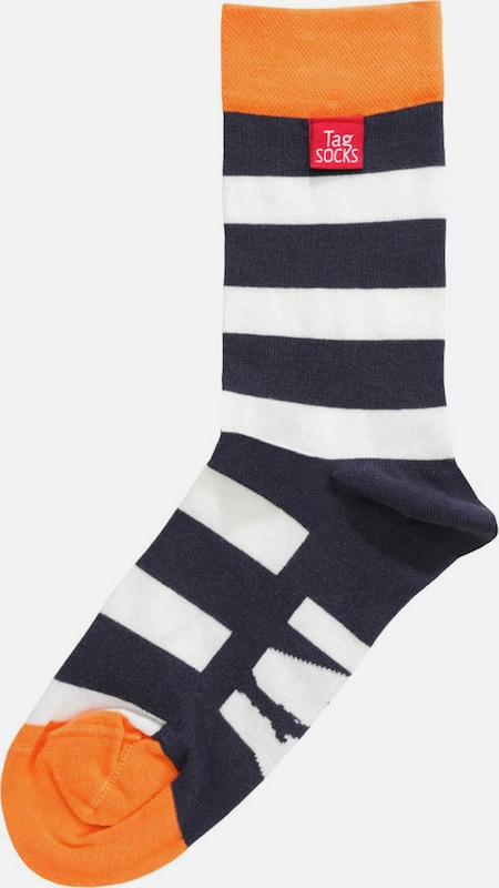 Tag SOCKS Socken 'Stars & Stripes' in navy / orange / weiß, Produktansicht