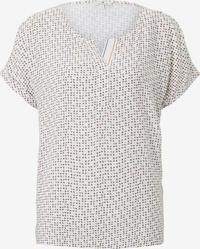 TOM TAILOR T-Shirt Gemustertes T-Shirt im Materialmix in weiß, Produktansicht