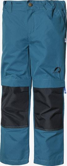 FINKID Outdoorhose 'Urakka' in himmelblau / schwarz: Frontalansicht