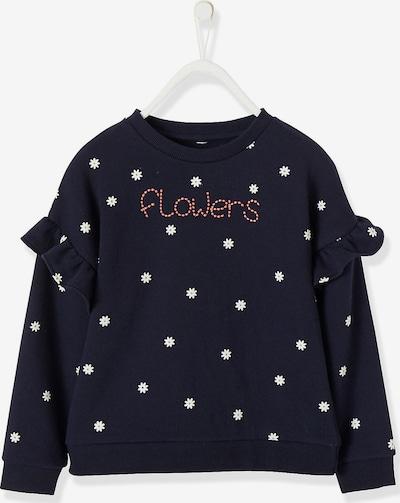 VERTBAUDET Sweatshirt in dunkelblau / rostrot / weiß, Produktansicht