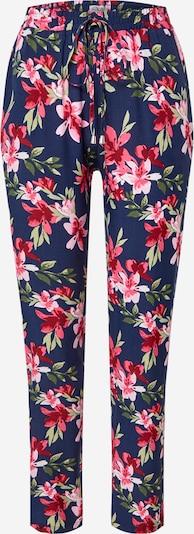 Hailys Broek in de kleur Navy / Groen / Pink, Productweergave